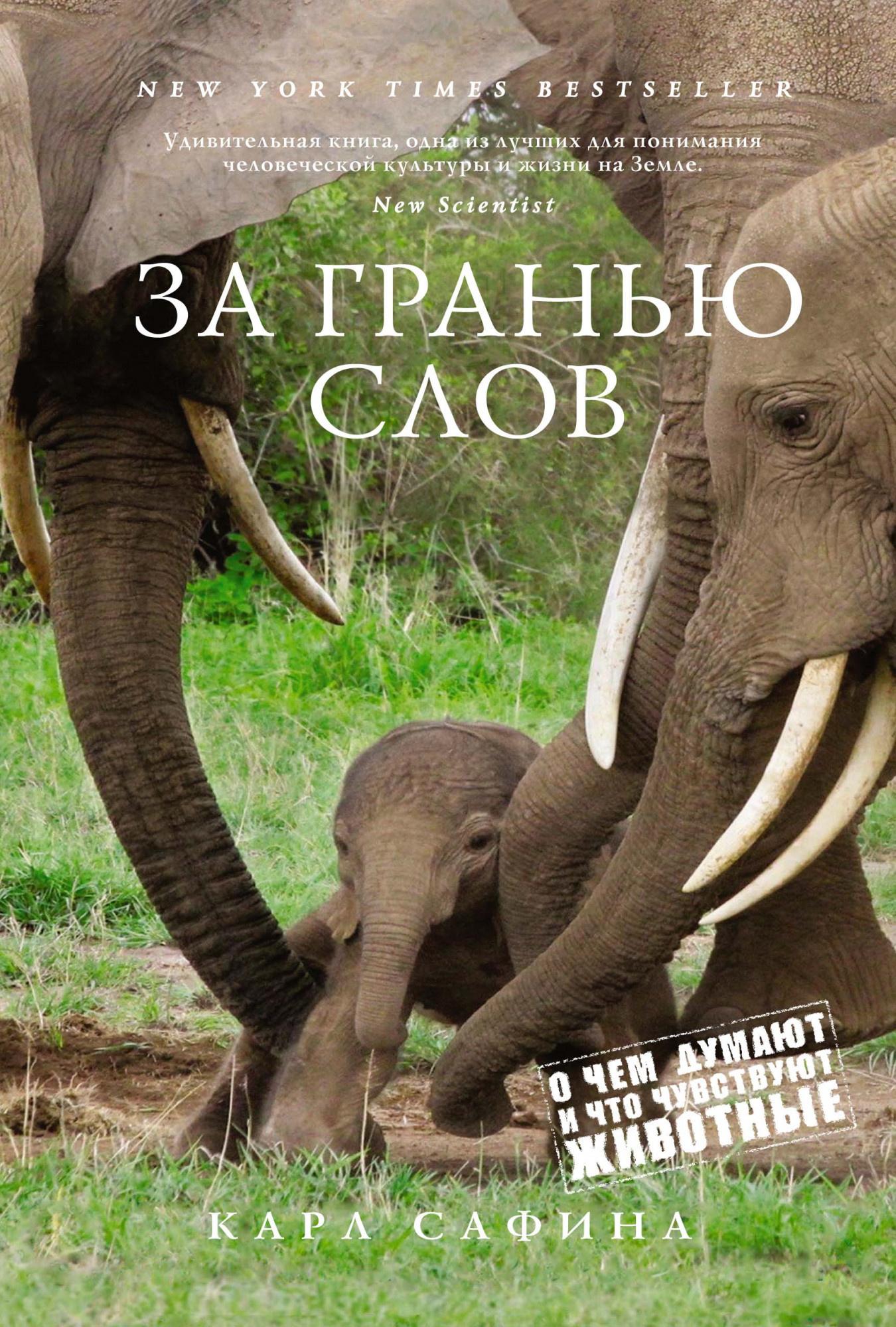 За гранью слов. О чем думают и что чувствуют животные. Автор — Карл Сафина. Переплет —