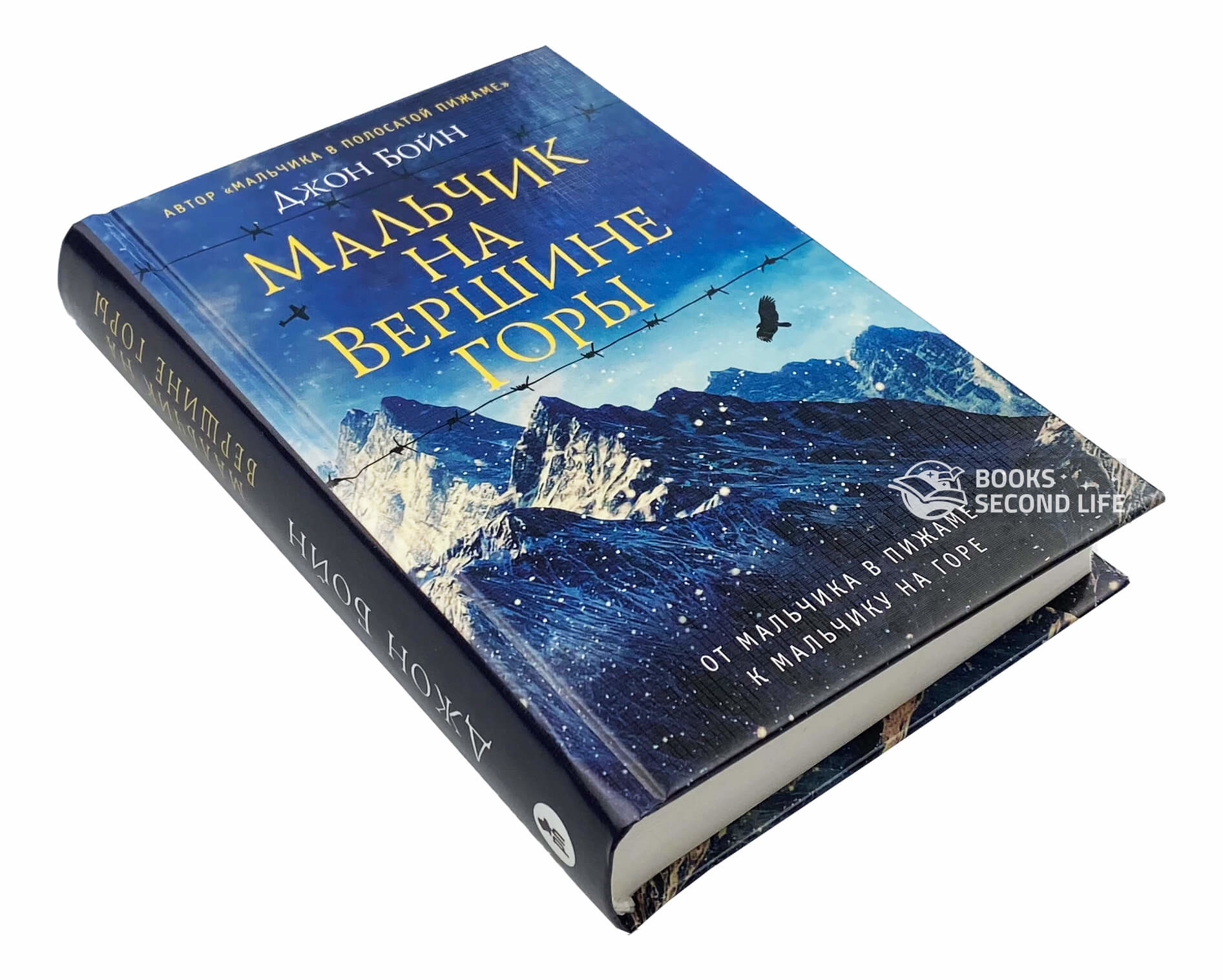 Мальчик на вершине горы. Автор — Джон Бойн. Переплет —